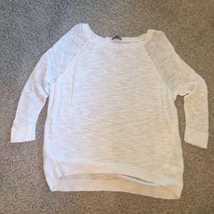 Express summer weight white sweater.